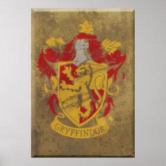Harry Potter | Gryffindor - Retro House Crest Poster