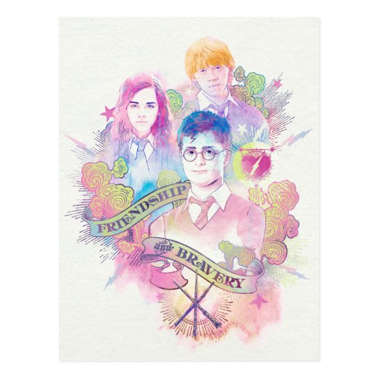 Harry Potter | Harry, Hermione, & Ron Watercolor