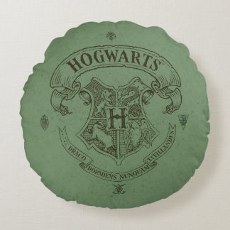 Harry Potter   Hogwarts Banner Crest Round Cushion