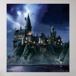 Harry Potter   Hogwarts Castle at Night Poster