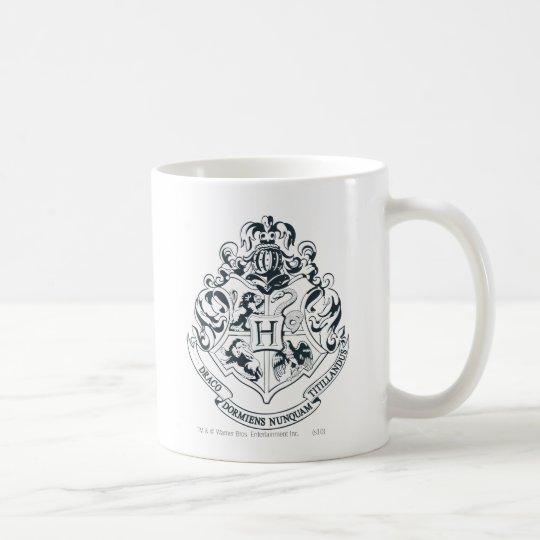 Harry Potter | Hogwarts Crest - Black and White Coffee Mug