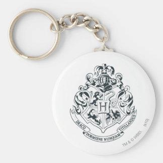 Harry Potter | Hogwarts Crest - Black and White Key Ring