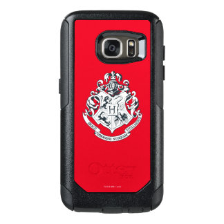 Harry Potter | Hogwarts Crest - Black and White OtterBox Samsung Galaxy S7 Case