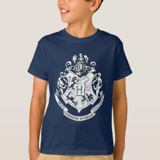 Harry Potter | Hogwarts Crest - Black and White T-Shirt