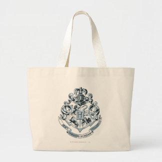 Harry Potter   Hogwarts Crest - Blue Large Tote Bag