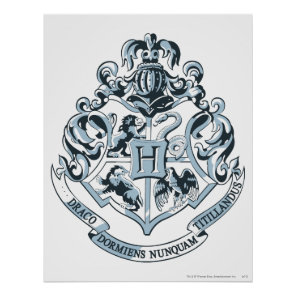 Harry Potter | Hogwarts Crest - Blue Poster