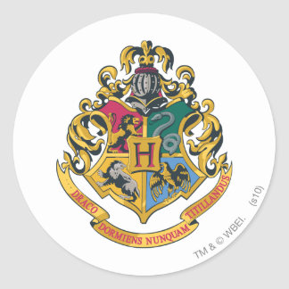 Harry Potter | Hogwarts Crest - Full Color Round Sticker