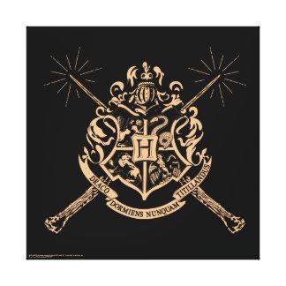 Harry Potter | Hogwarts Crossed Wands Crest Canvas Print