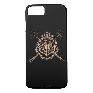 Harry Potter   Hogwarts Crossed Wands Crest iPhone 8/7 Case
