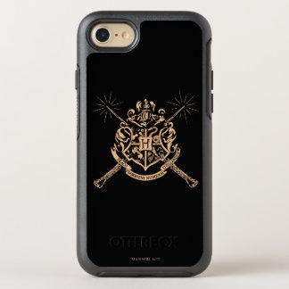 Harry Potter | Hogwarts Crossed Wands Crest OtterBox Symmetry iPhone 8/7 Case