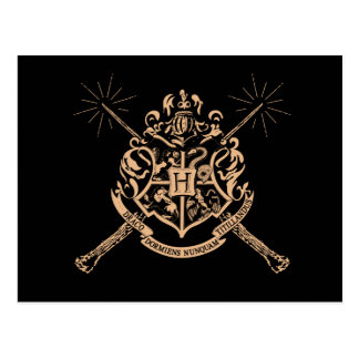 Harry Potter | Hogwarts Crossed Wands Crest Postcard