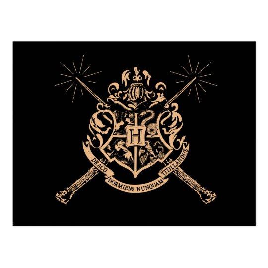 Harry Potter | Hogwarts Crossed Wands Crest Postcard