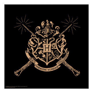 Harry Potter | Hogwarts Crossed Wands Crest Poster