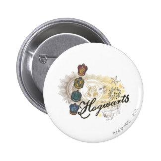 Harry Potter | Hogwarts Houses - Full Color 6 Cm Round Badge