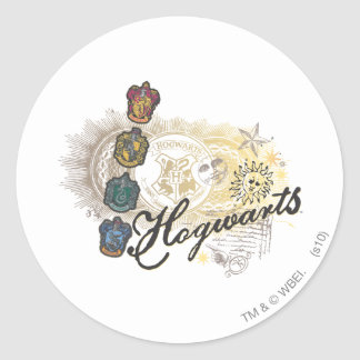 Harry Potter | Hogwarts Houses - Full Color Classic Round Sticker