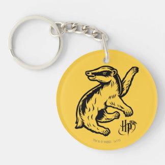 Harry Potter | Hufflepuff Badger Icon Double-Sided Round Acrylic Key Ring