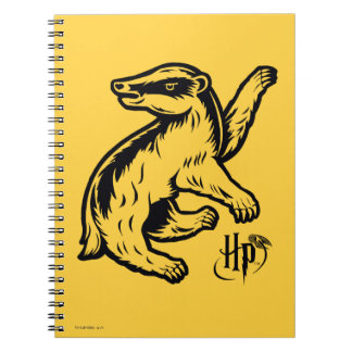 Harry Potter | Hufflepuff Badger Icon Spiral Note Book