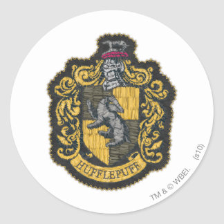Harry Potter | Hufflepuff Crest Patch Classic Round Sticker