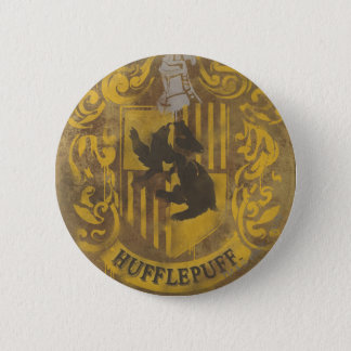 Harry Potter | Hufflepuff Crest Spray Paint 6 Cm Round Badge