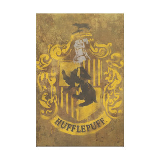 Harry Potter | Hufflepuff Crest Spray Paint Canvas Print