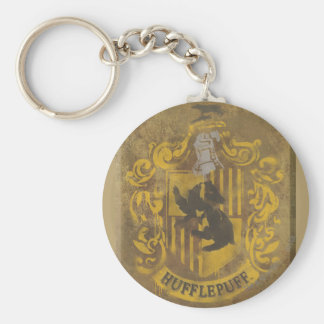 Harry Potter | Hufflepuff Crest Spray Paint Key Ring