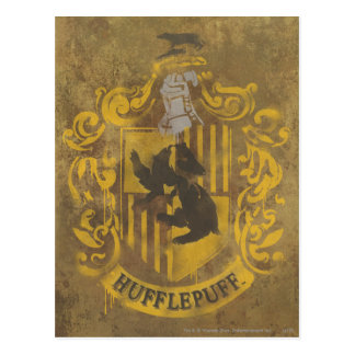 Harry Potter | Hufflepuff Crest Spray Paint Postcard