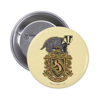 Harry Potter | Hufflepuff Crest with Badger 6 Cm Round Badge