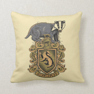 Harry Potter | Hufflepuff Crest with Badger Cushion