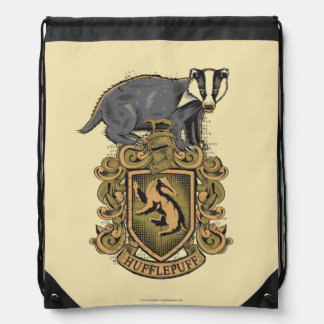 Harry Potter | Hufflepuff Crest with Badger Drawstring Bag