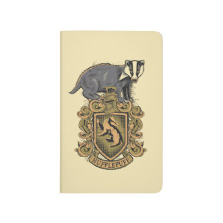 Harry Potter | Hufflepuff Crest with Badger Journals