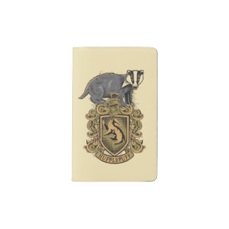 Harry Potter | Hufflepuff Crest with Badger Pocket Moleskine Notebook