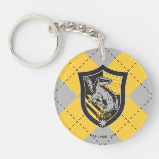 Harry Potter | Hufflepuff House Pride Crest Double-Sided Round Acrylic Key Ring