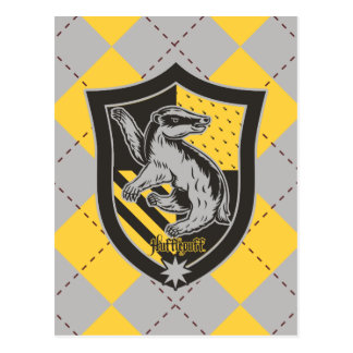 Harry Potter | Hufflepuff House Pride Crest Postcard