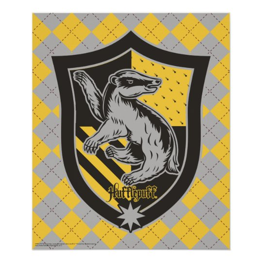 Harry Potter   Hufflepuff House Pride Crest Poster