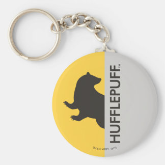 Harry Potter | Hufflepuff House Pride Graphic Basic Round Button Key Ring
