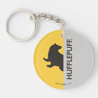 Harry Potter | Hufflepuff House Pride Graphic Double-Sided Round Acrylic Key Ring