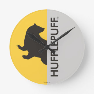 Harry Potter | Hufflepuff House Pride Graphic Round Clock