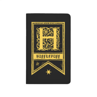 Harry Potter | Hufflepuff Monogram Banner Journal