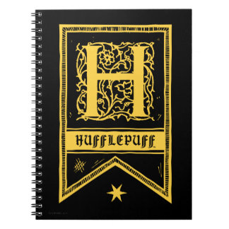 Harry Potter | Hufflepuff Monogram Banner Note Book