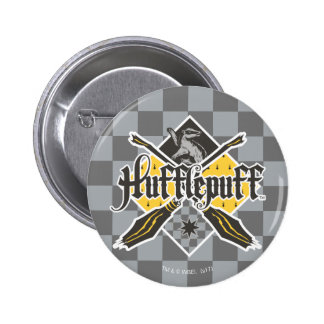 Harry Potter | Hufflepuff Quidditch Crest 6 Cm Round Badge