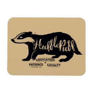 Harry Potter | HUFFLEPUFF™ Silhouette Typography Magnet