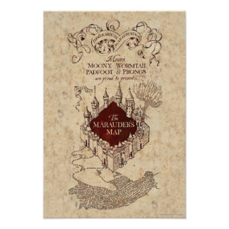 Harry Potter | Marauder's Map Poster