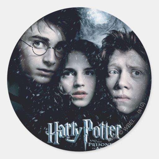 Harry Potter Movie Poster Round Sticker