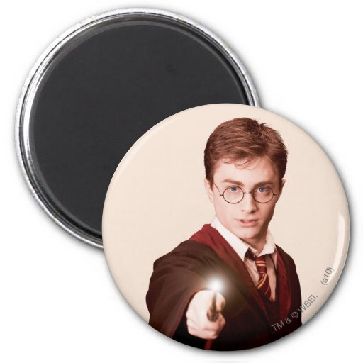 Harry Potter Points Wand Refrigerator Magnet