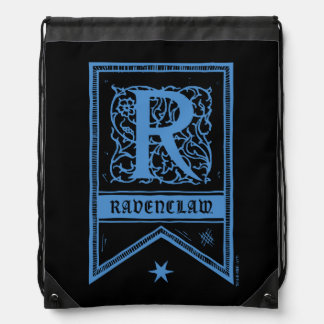 Harry Potter | Ravenclaw Monogram Banner Drawstring Bag