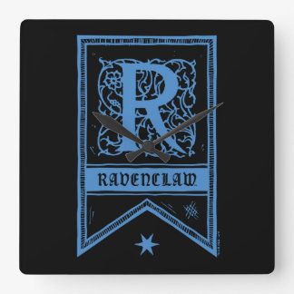 Harry Potter | Ravenclaw Monogram Banner Square Wall Clock