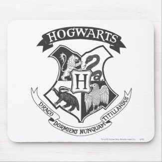 Harry Potter | Retro Hogwarts Crest Mouse Mat
