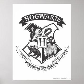 Harry Potter | Retro Hogwarts Crest Poster