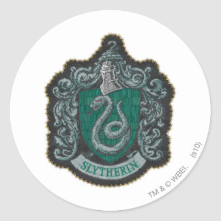 Harry Potter | Retro Mighty Slytherin Crest Classic Round Sticker