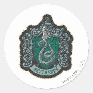 Harry Potter | Retro Mighty Slytherin Crest Round Sticker